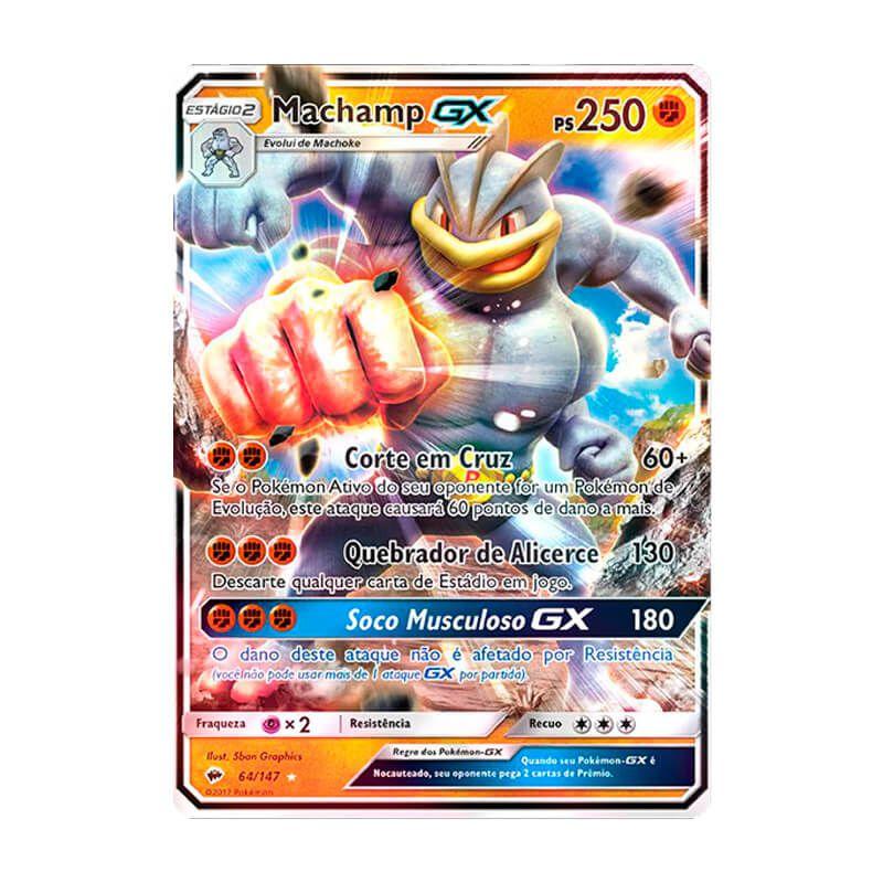 Pokémon TCG: Machamp GX (64/147) - SM3 Sombras Ardentes