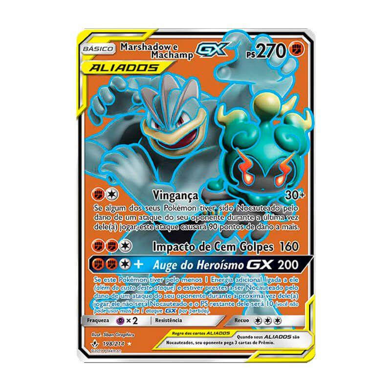 Pokémon TCG: Marshadow e Machamp GX (198/214) - SM10 Elos Inquebráveis