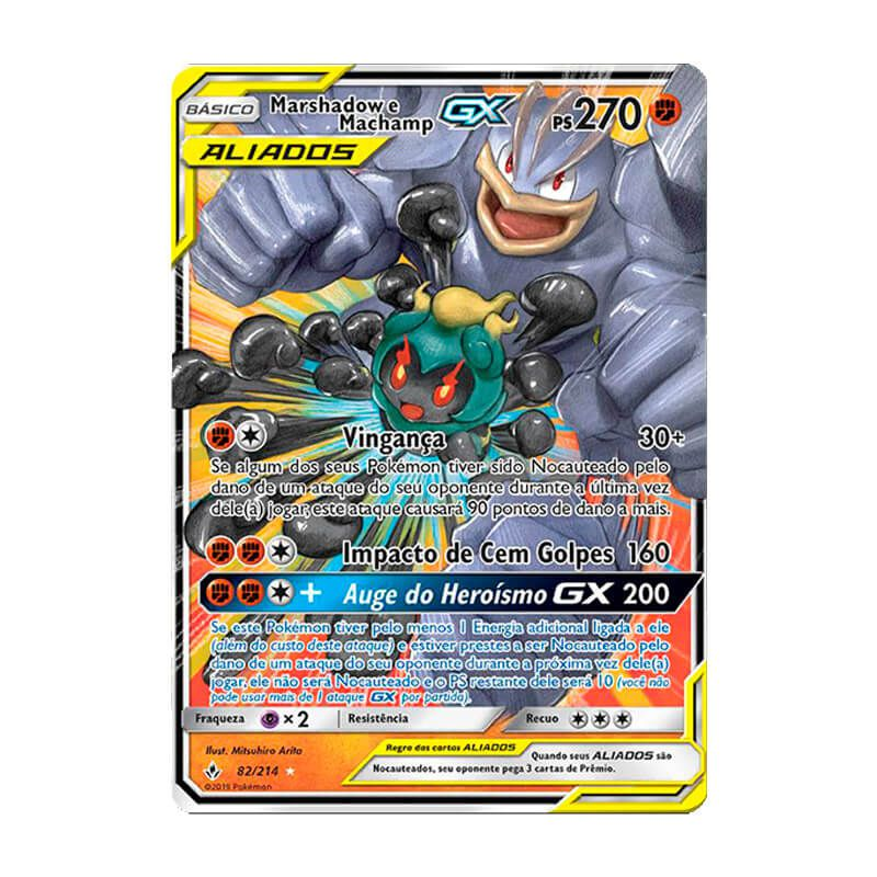 Pokémon TCG: Marshadow e Machamp GX (82/214) - SM10 Elos Inquebráveis