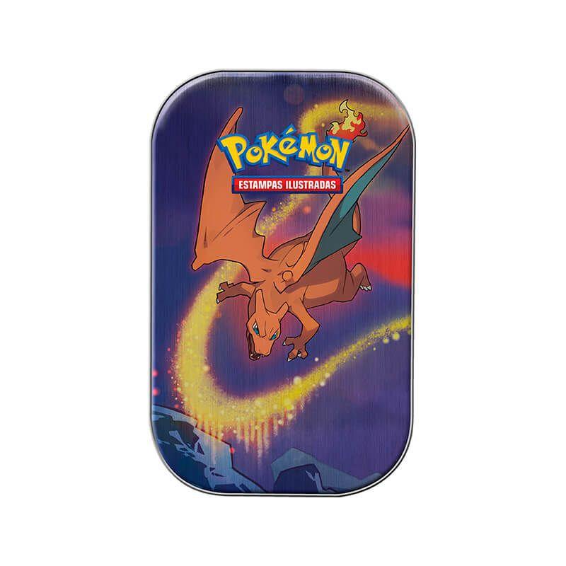 Pokémon TCG: Mini Latas Poder de Kanto - Charizard + Pikachu e Vulpix + Mewtwo + Dragonite + Mew e Psyduck