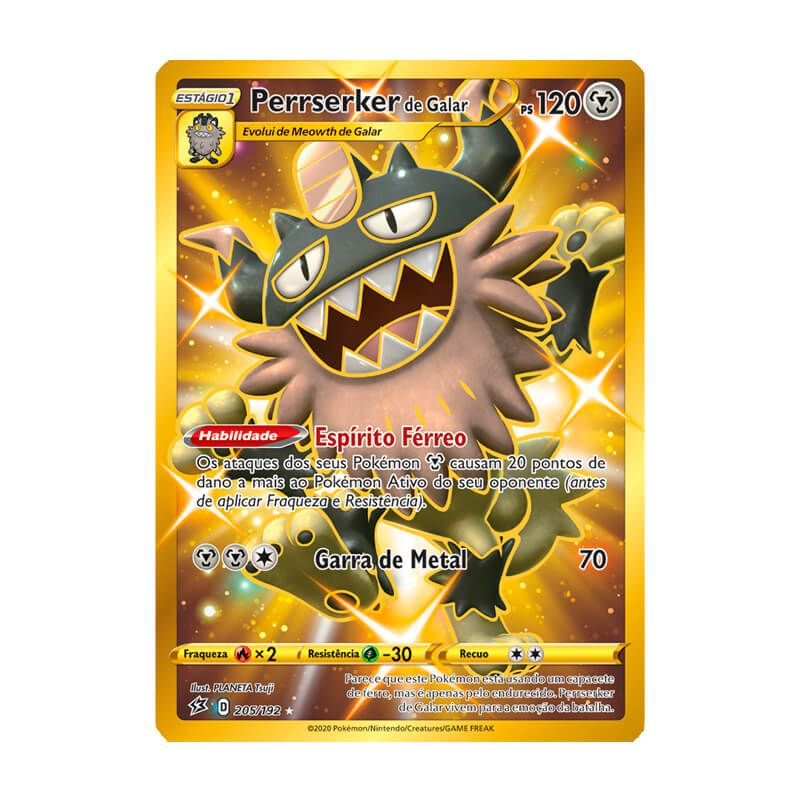Pokémon TCG: Perrserker de Galar (205/192) - SWSH2 Rixa Rebelde