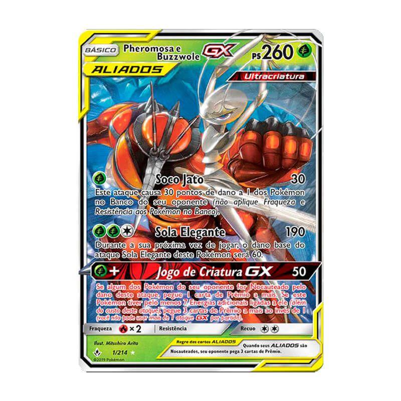 Pokémon TCG: Pheromosa e Buzzwole GX (1/214) - SM10 Elos Inquebráveis