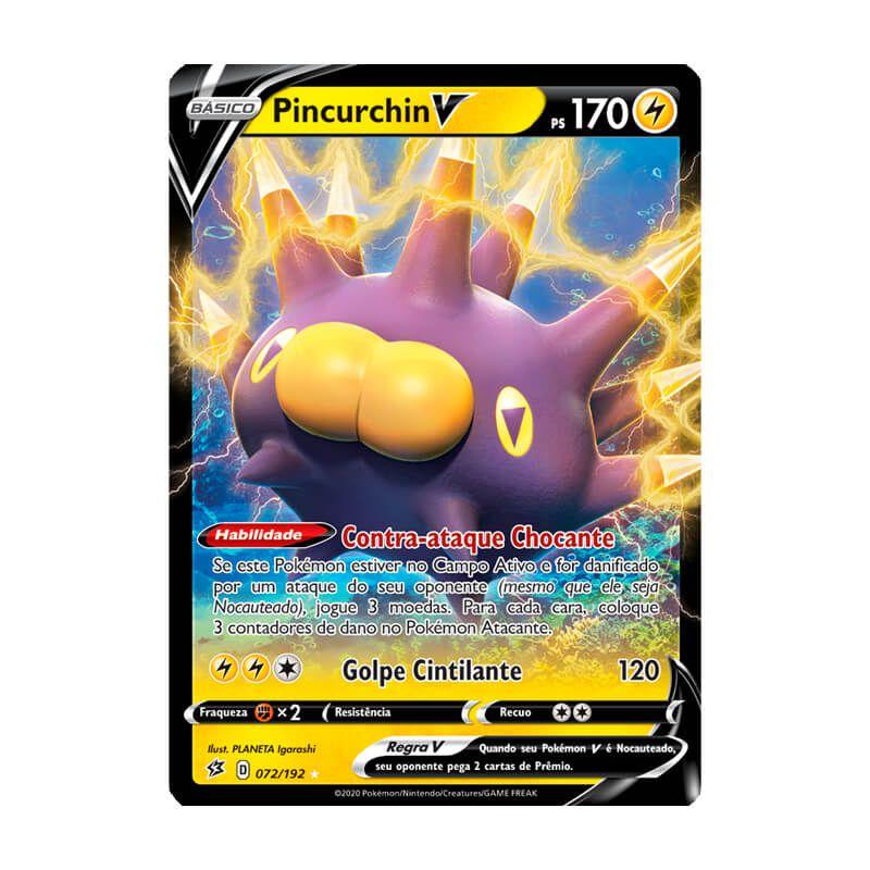 Pokémon TCG: Pincurchin V (72/192) - SWSH2 Rixa Rebelde
