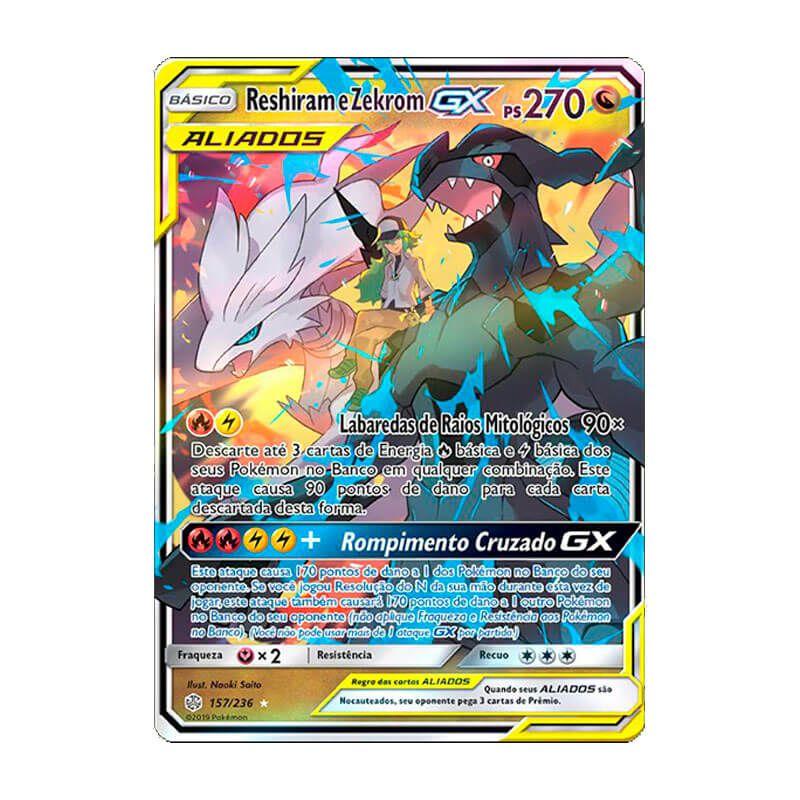 Pokémon TCG: Reshiram e Zekrom GX (157/236) - SM12 Eclipse Cósmico
