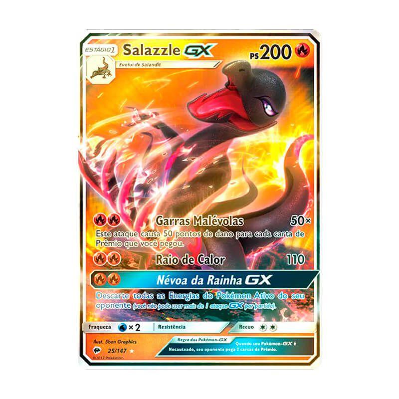 Pokémon TCG: Salazzle GX (25/147) - SM3 Sombras Ardentes