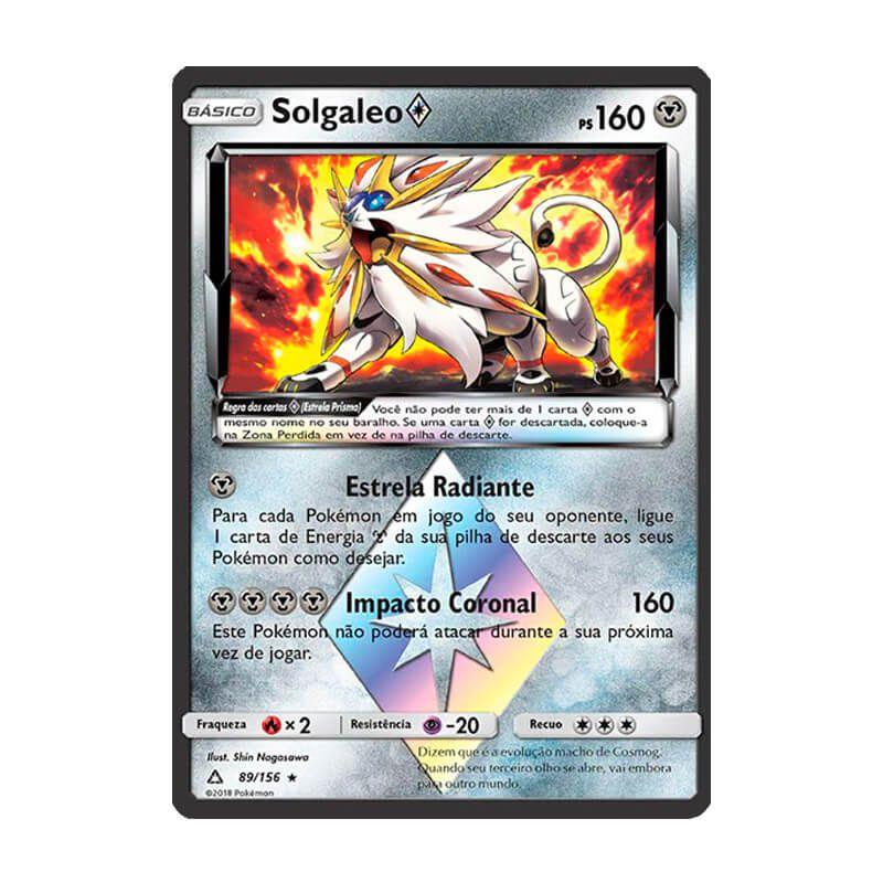 Pokémon TCG: Solgaleo Estrela Prisma (89/156) - SM5 Ultra Prisma