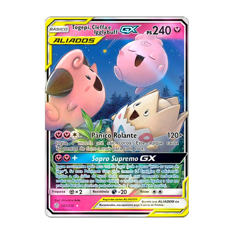 Pokémon TCG: Togepi, Cleffa e Igglybuff GX (143/236) - SM12 Eclipse Cósmico