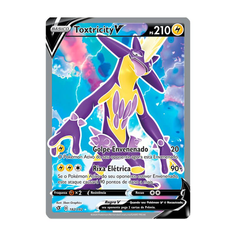 Pokémon TCG: Toxtricity V (182/192) - SWSH2 Rixa Rebelde