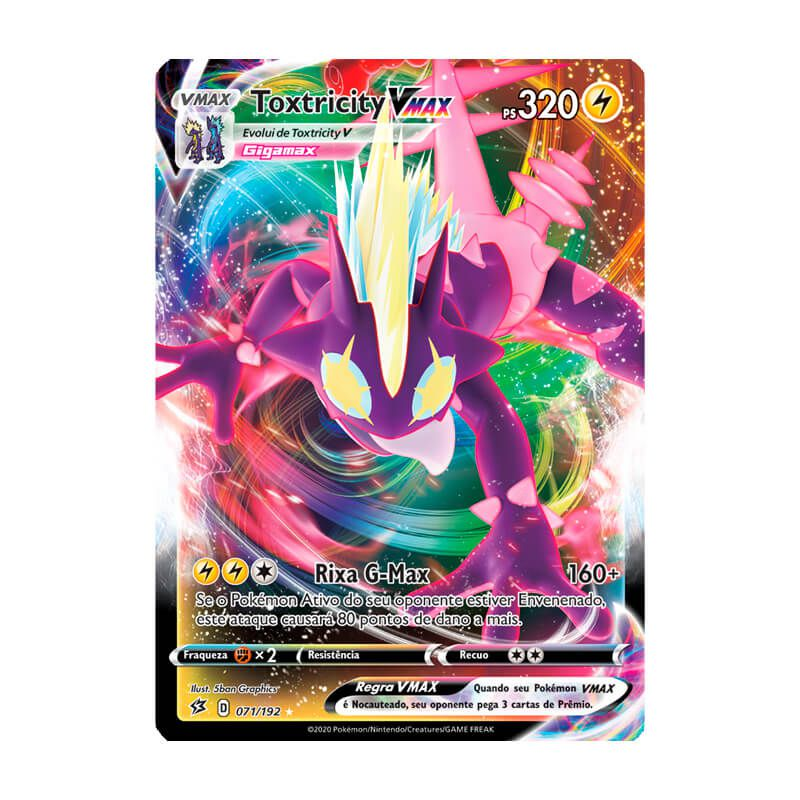 Pokémon TCG: Toxtricity VMAX (71/192) - SWSH2 Rixa Rebelde