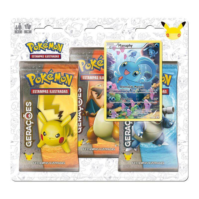 Pokémon TCG: Triple Pack Gerações - Darkrai + Manaphy + Shaymin