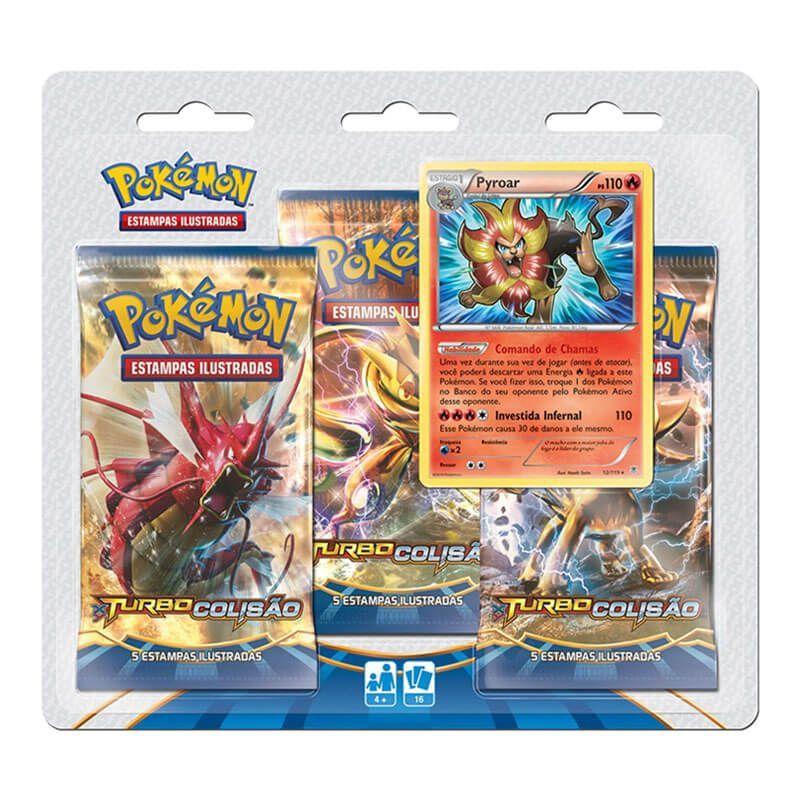 Pokémon TCG: Triple Pack XY9 Turbo Colisão - Pyroar