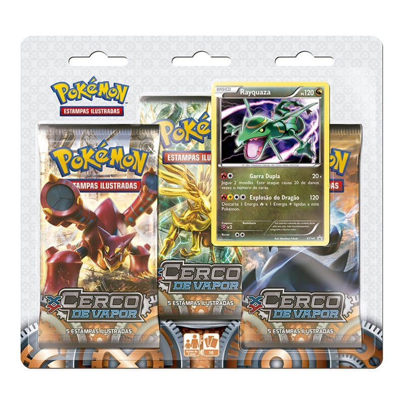 Pokémon TCG: Triple Pack XY11 Cerco de Vapor - Rayquaza