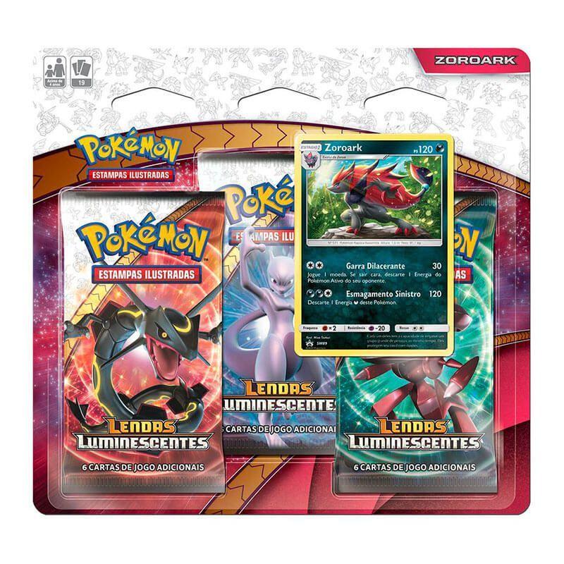 Pokémon TCG: Triple Pack SM3.5 Lendas Luminescentes - Zoroark