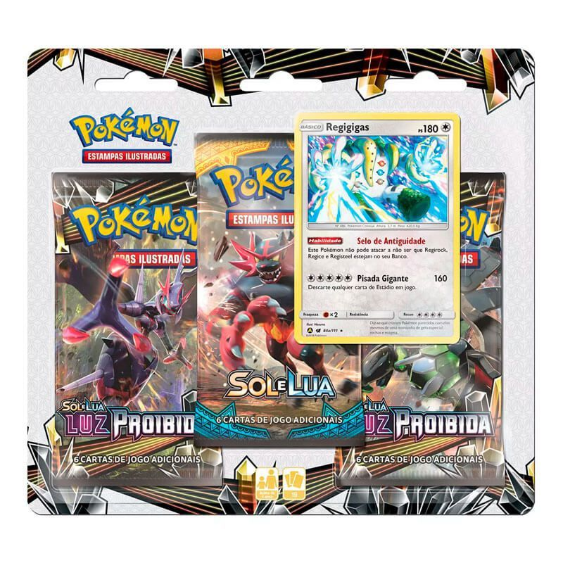 Pokémon TCG: Triple Pack SM6 Luz Proibida - Regigigas