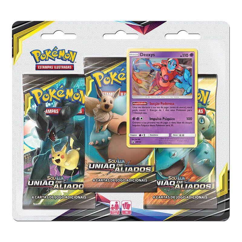 Pokémon TCG: Triple Pack SM9 União de Aliados - Deoxys