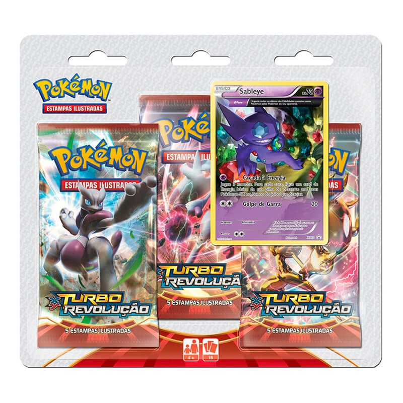 Pokémon TCG: Triple Pack XY8 Turbo Revolução - Celebi + Sableye