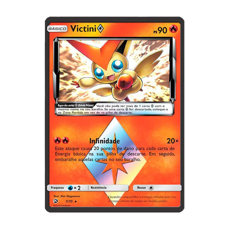 Pokémon TCG: Victini Estrela Prisma (7/70) - SM7.5 Dragões Soberanos