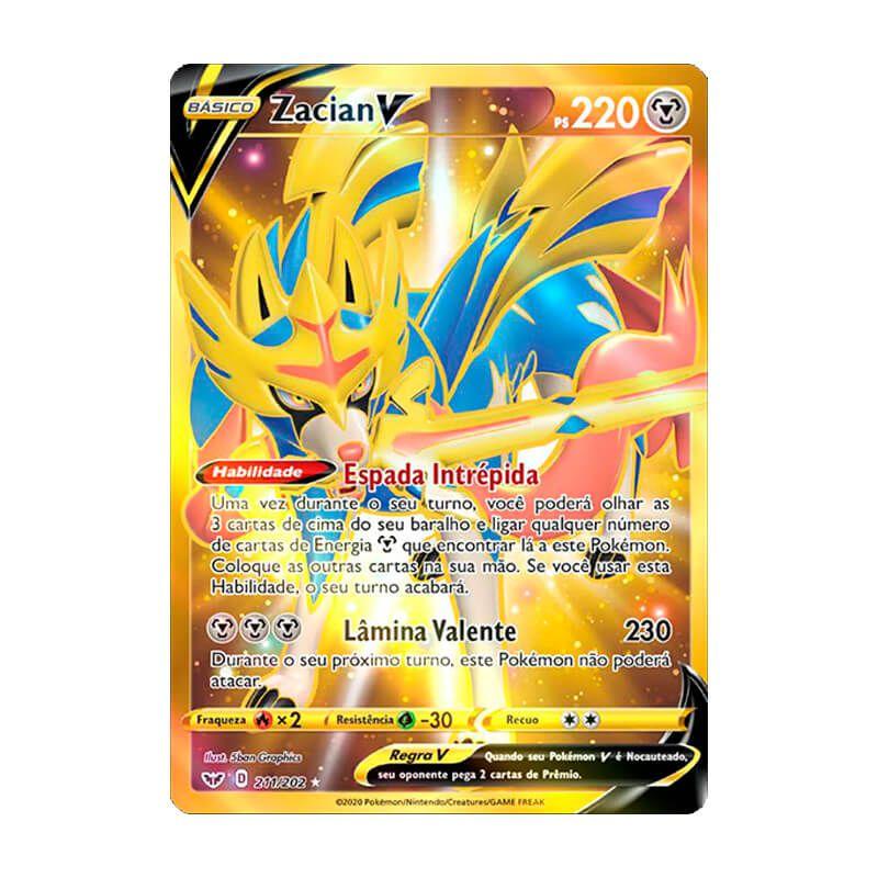 Pokémon TCG: Zacian V (211/202) - SWSH1 Espada e Escudo
