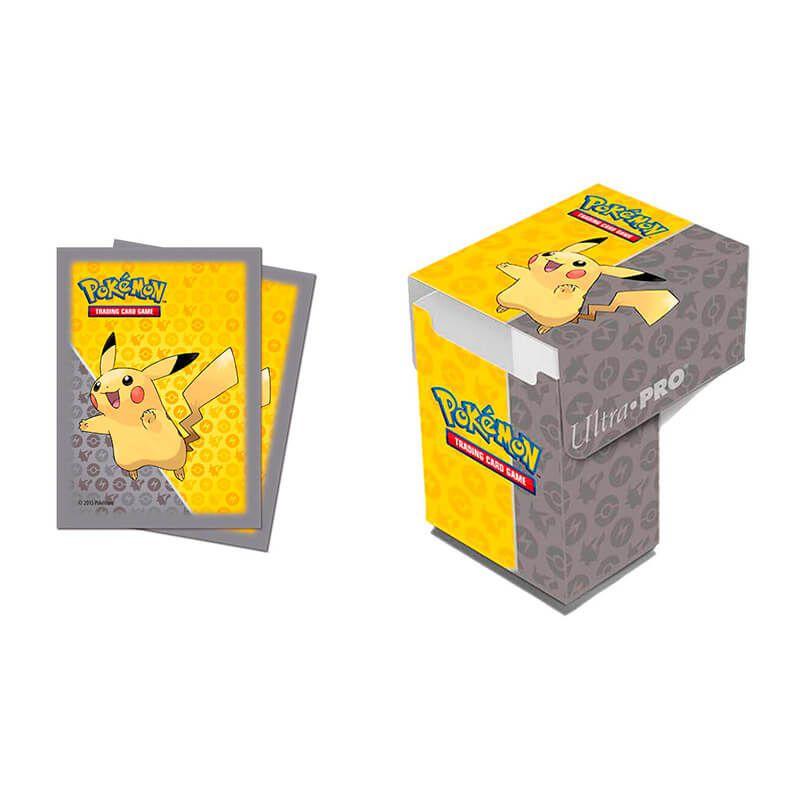 Sleeve Standard + Deck Box Oficial Ultra PRO - Pokémon TCG: Pikachu