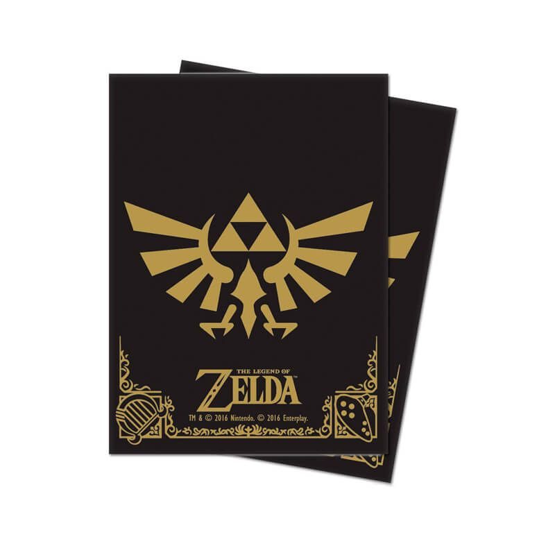 Sleeve Standard Oficial Ultra PRO - Legend of Zelda: Black & Gold (65 unidades)