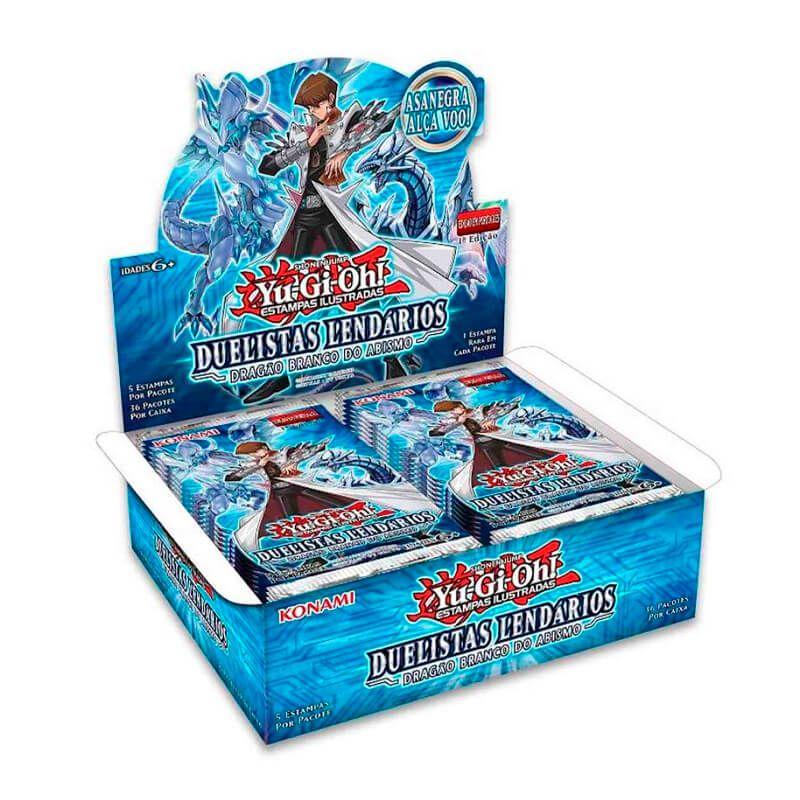 Yu-Gi-Oh! Booster Box (36 pacotes) - Duelistas Lendários: Dragão Branco do Abismo