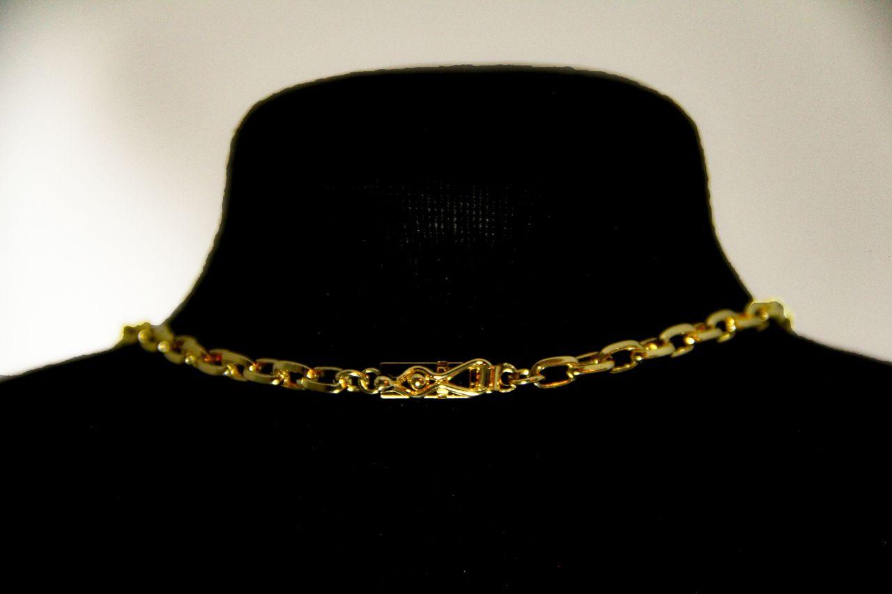 Corrente Banhada a Ouro Cadeado