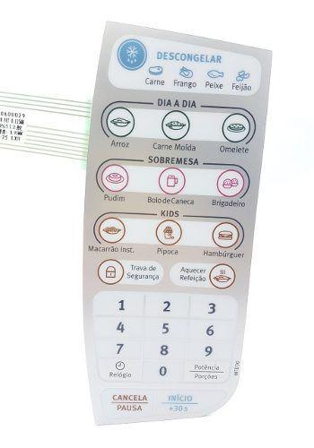 Membrana Painel Microondas Electrolux Mtd30 64502413 Orig.