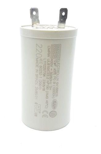 Capacitor 12mf/400vac P/ 220v Electrolux 64188826 Original
