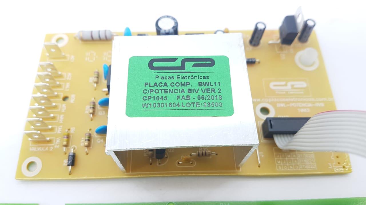 Placa Compatível Lavadora Bwl11 Brastemp V.2 Bivolt W10301604 Cp1045
