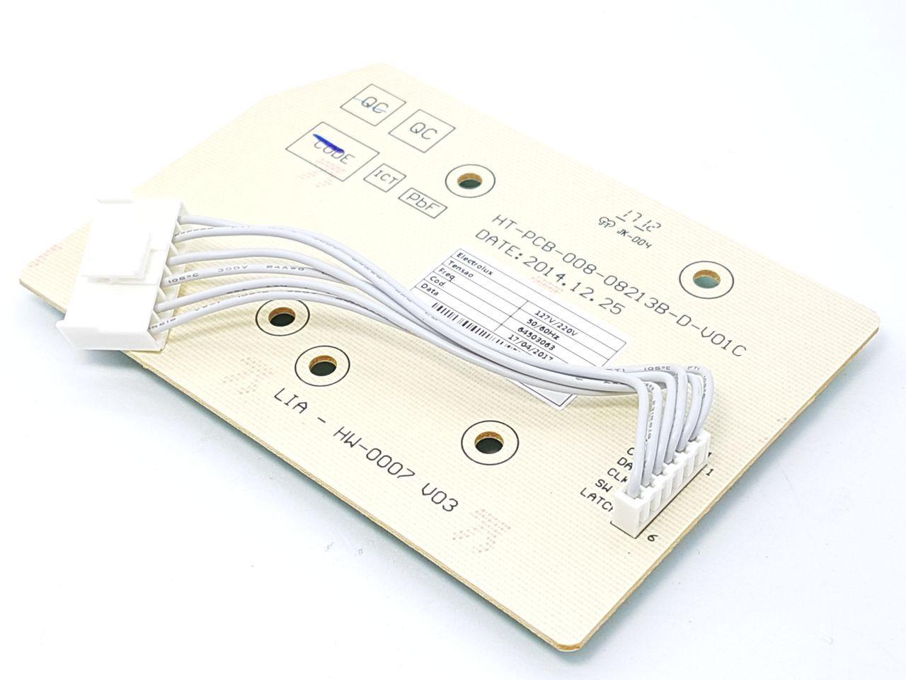 Placa Interface Electrolux Original Lt09b Led Azul  64503062
