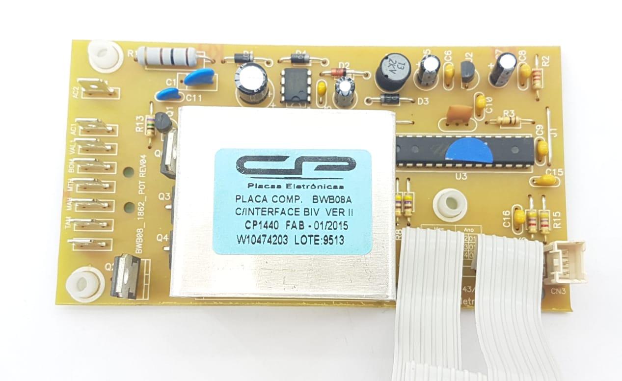 Placa Potência Interface Brastemp Bwb08a V.2 Bivolt Cp1440