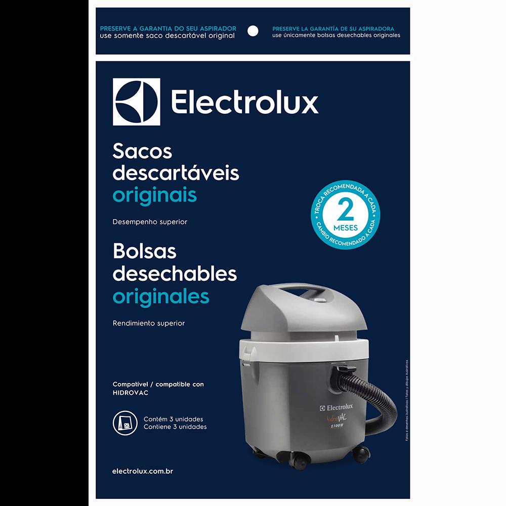 Saco Descartável Aspirador Electrolux C/3 Hidrovac
