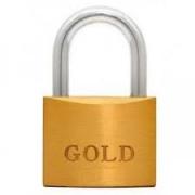 Cadeado Latão Maciço 25 Mm - Gold