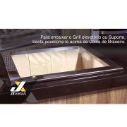 Caixa Braseiro cooktop Refrataria 60x50 Inox/aço Carbono Jx Metais
