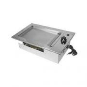 Chapa Elétrica Gourmet Em Inox de Embutir 32x50 - 110v JX METAIS