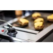 Chapa Elétrica Gourmet Em Inox de Embutir 32x50 JX METAIS 110v