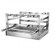 Grill Manual Inox 70x53cm - Suporte para grelhas e espetos