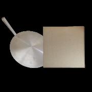 Kit pizza para churrasqueira e Forno, Pá e Pedra refrataria 40x40cm