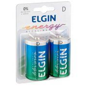 Pilha D Alcalina Elgin Lr20 - Com 2 - 82157