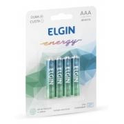 Pilhas Alcalinas AAA 1,5v Blister 4 Un. Caixa C/ 10 blister Elgin