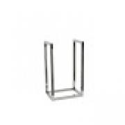 Porta Lenha Vertical para Lareira Prata em Inox Fullway