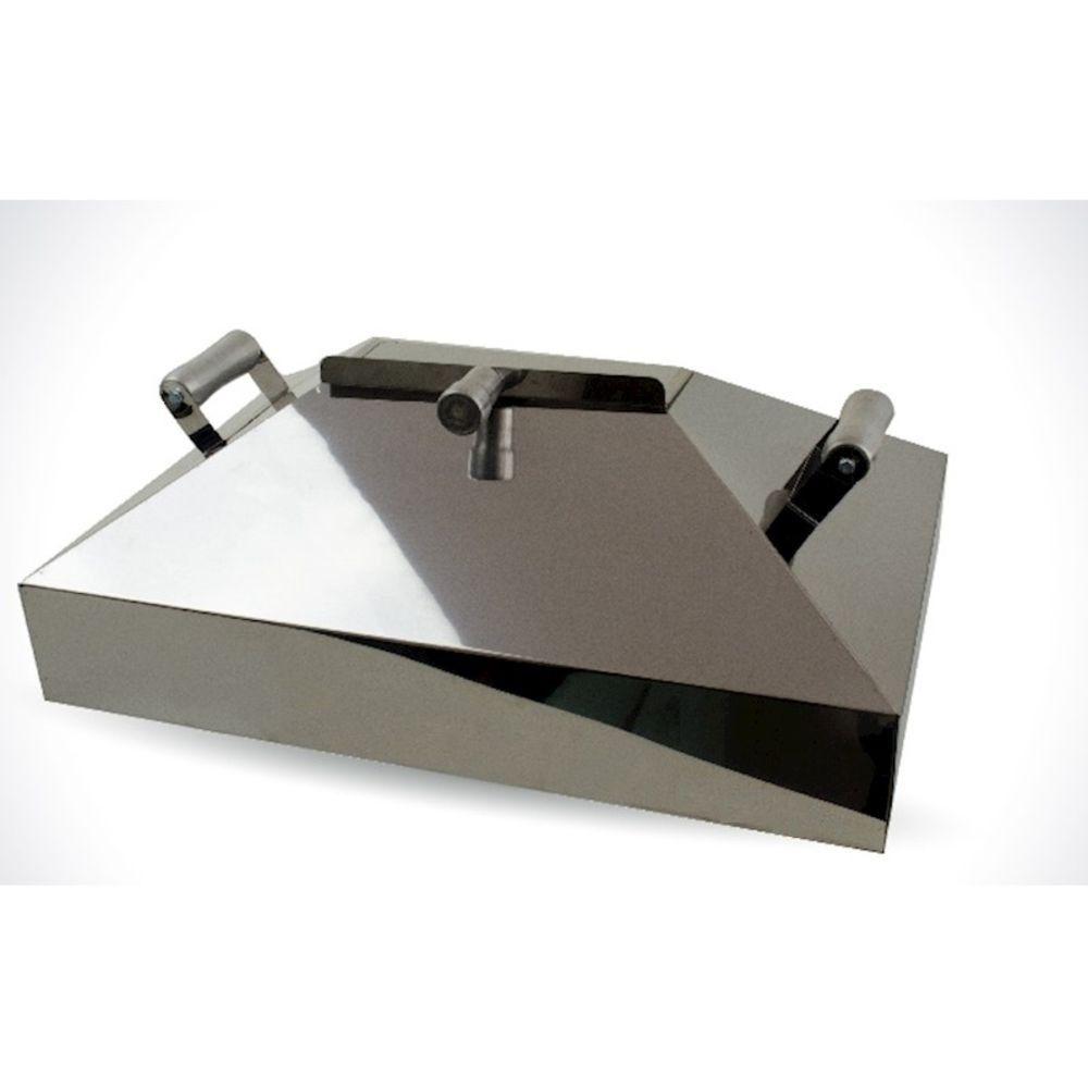 Abafador Para Churrasqueira Pré-moldada 64cm Em Inox.