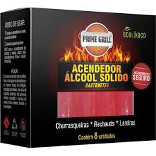 Acendedor Bastonete Prime Grill Estojo C/08