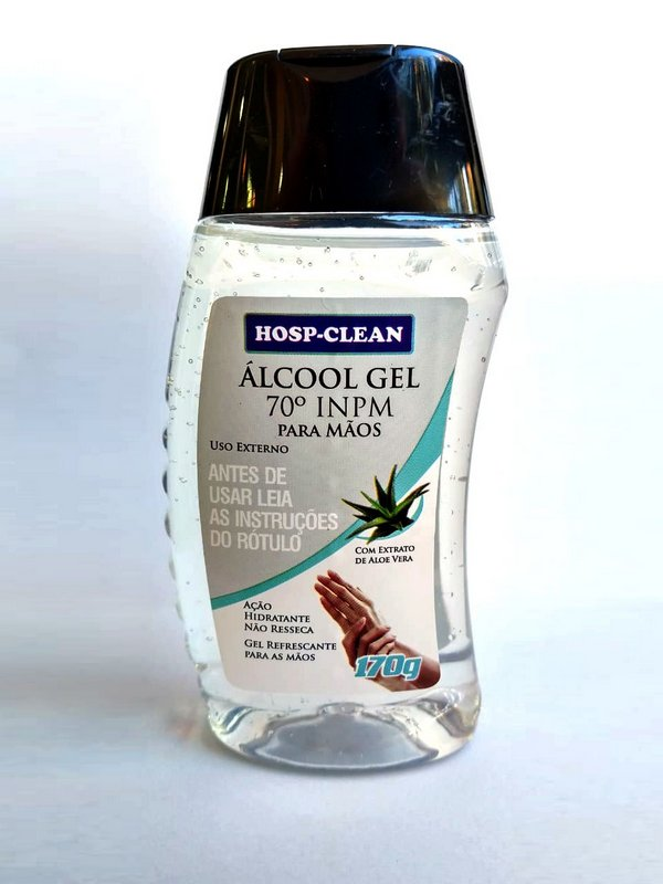 Alcool gel 70º para mãos Hosp-Clean 170G