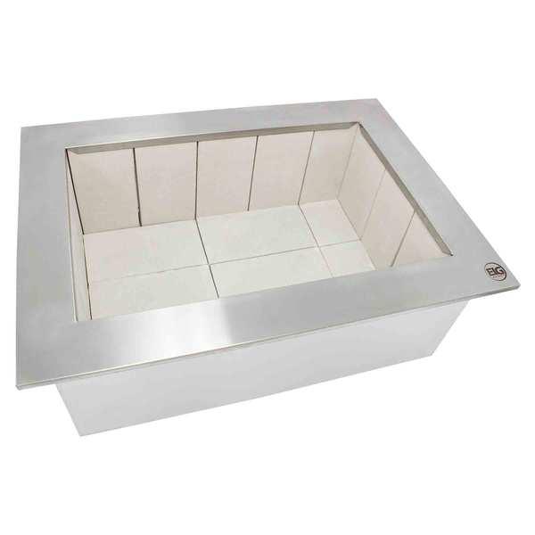 Braseiro Cooktop inox 430 Para Churrasqueira - 60 X 50cm