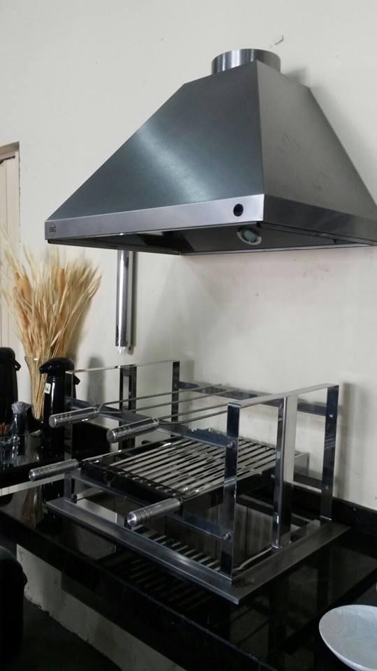 Braseiro Cooktop inox 430 Para Churrasqueira - 70 X 50cm