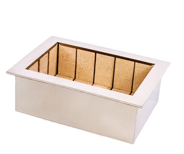 Braseiro Cooktop inox 430 Para Churrasqueira | 70 X 50cm
