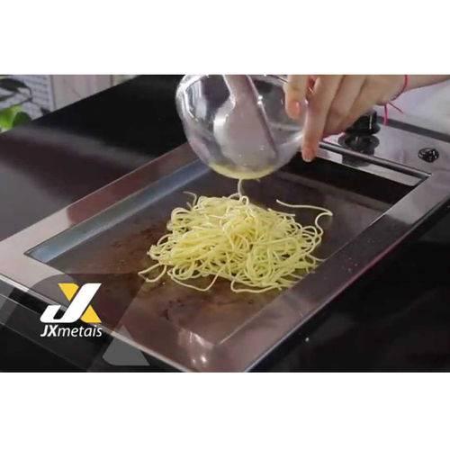 Chapa em inox Para Churrasqueira Eletrica JX