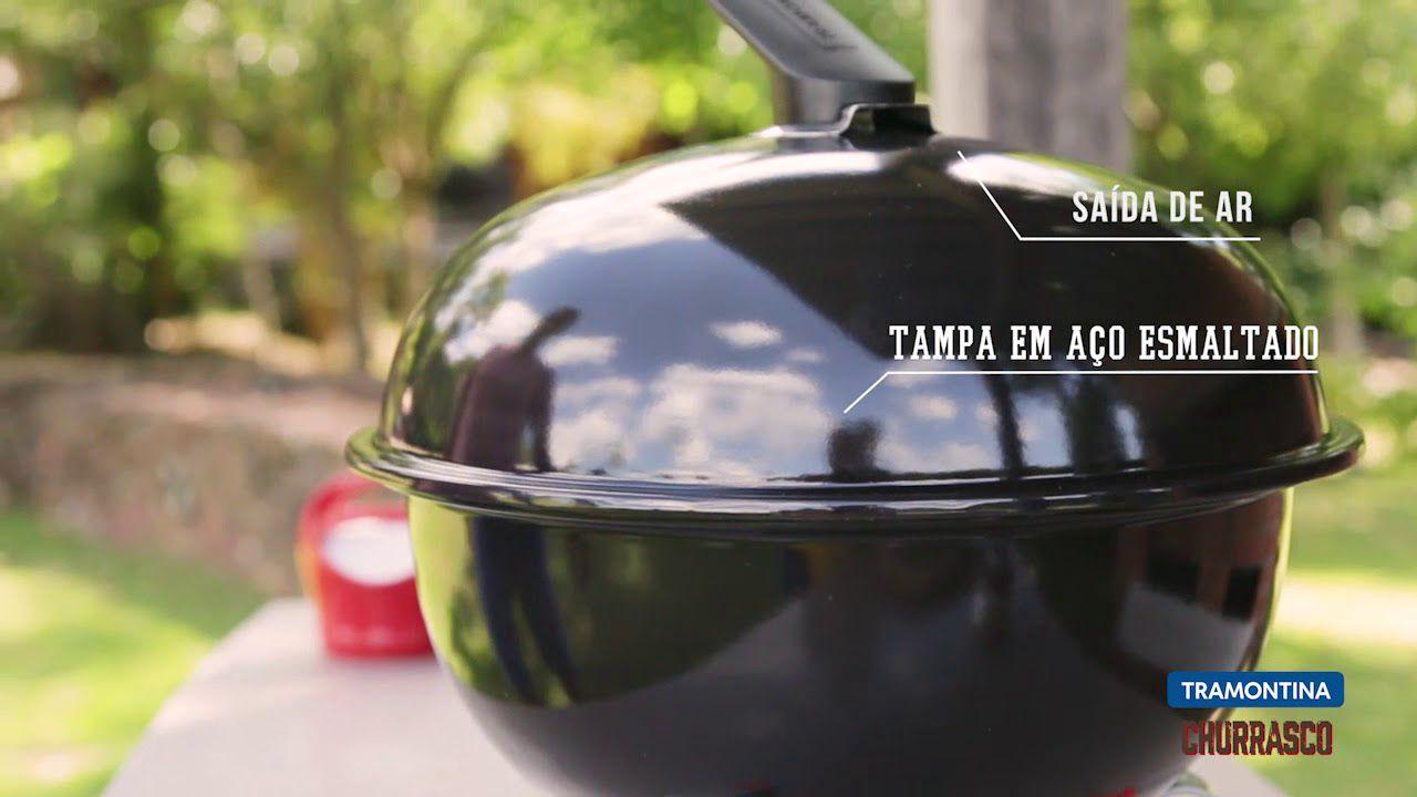 Churrasqueira A Carvão Com Tampa Tramontina Altura 44,1Cm