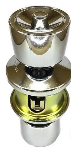 Fechadura Botão-Chave Cromada - Vouga